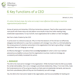 6 Key Functions of a CEO