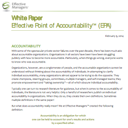 Effective Point of Accountability